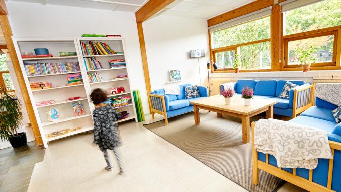 Holmegaardshuset, barn der leger